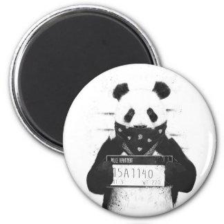 Mala panda imán redondo 5 cm