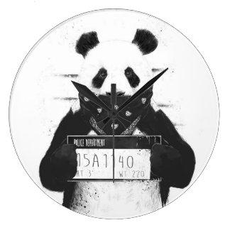 Mala panda reloj redondo grande