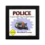 Mala patrulla de la noche de la policía caja de recuerdo