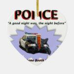 Mala patrulla de la noche de la policía ornamento de reyes magos