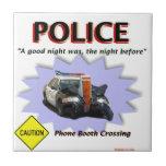 Mala patrulla de la noche de la policía tejas