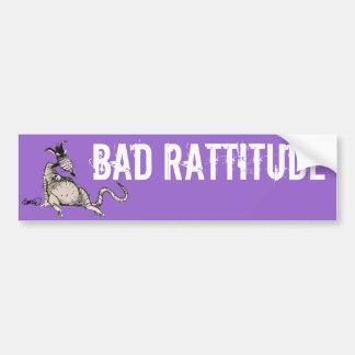 Mala pegatina para el parachoques de Rattitude Etiqueta De Parachoque