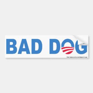 Mala pegatina para el parachoques del perro etiqueta de parachoque