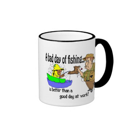 Mala pesca del día taza de café