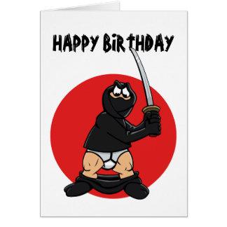 Mala tarjeta de cumpleaños de Ninja del día