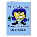 Mala tarjeta de la actitud