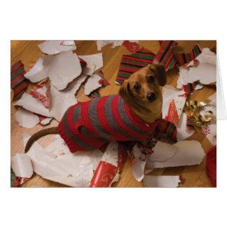 Mala tarjeta de Navidad del perro