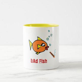 mala taza de Coffe de los pescados
