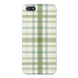 Mala tela escocesa iPhone 5 fundas