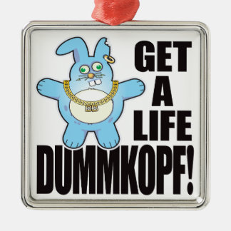 Mala vida del bollo de Dummkopf Adorno Navideño Cuadrado De Metal