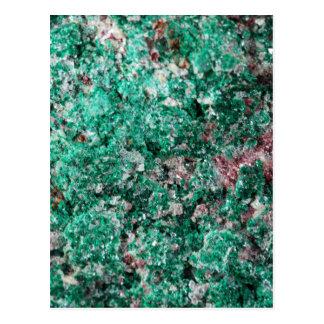 Malachite and copper postcard