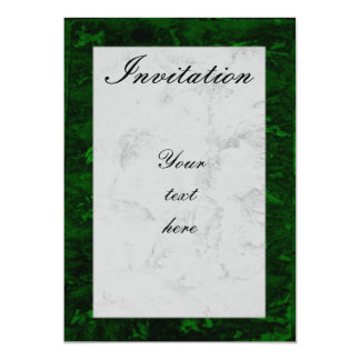 Malachite and marble card
