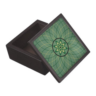 Malachite Geometric Flower Premium Trinket Box