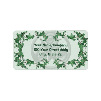 Malachite Ivy Triskel Address Label