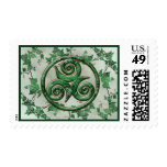 Malachite Ivy Triskel Stamp
