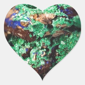 Malachite Lapis Azurite Gems Gemology Rock Heart Sticker