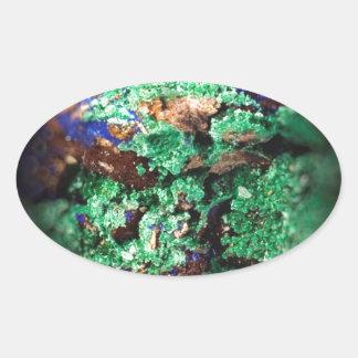 Malachite Lapis Azurite Gems Gemology Rock Oval Sticker