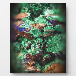 Malachite Lapis Azurite Gems Gemology Rock Plaque
