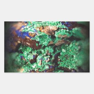 Malachite Lapis Azurite Gems Gemology Rock Rectangular Sticker