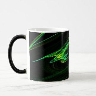 Malachite look abstract graphic magic mug