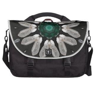 Malachite/Quartz Mandala Computer Bag