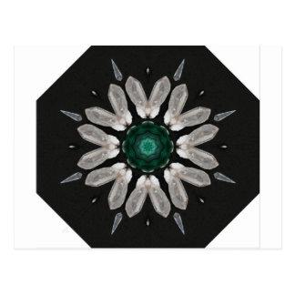 Malachite/Quartz Mandala Postcard