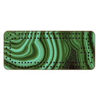 """Malachite Sapele Cribbage Board"""