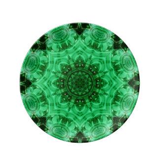 Malachite Star Mandala Dinner Plate