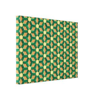 Malachite Tiled Hex Canvas