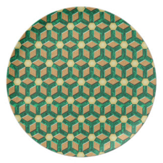 Malachite Tiled Hex Plate