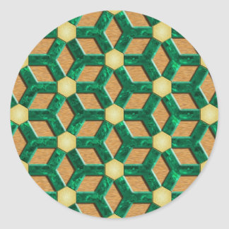 Malachite Tiled Hex Sticker