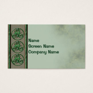 Malachite Triskel Business Card