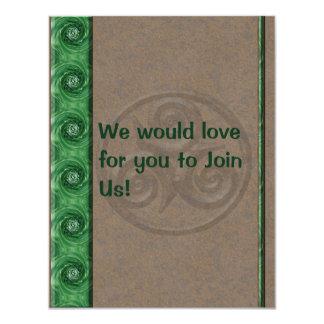 Malachite Triskel Personalized Invite