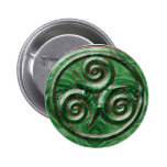 Malachite Triskel Pinback Buttons