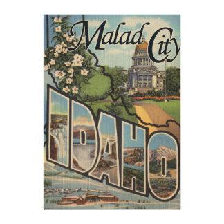 Malad CityLarge Letter ScenesMalad City, ID Canvas Print