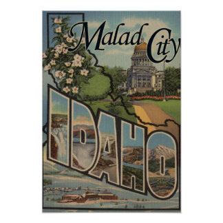 Malad CityLarge Letter ScenesMalad City, ID Poster