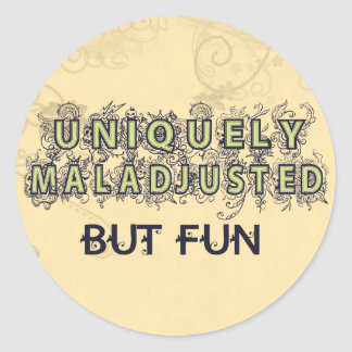 Maladjusted Classic Round Sticker