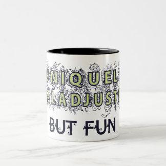 Maladjusted Two-Tone Coffee Mug