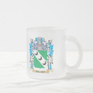 Malady Coat of Arms - Family Crest 10 Oz Frosted Glass Coffee Mug