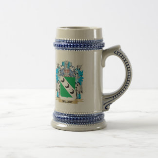 Malady Coat of Arms - Family Crest 18 Oz Beer Stein