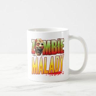 Malady Zombie Head Classic White Coffee Mug
