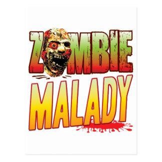 Malady Zombie Head Postcard