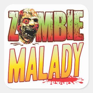 Malady Zombie Head Stickers