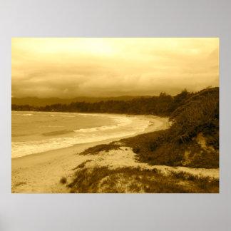 Malaekahana Park, Beach View, Laie, Hawaii Poster