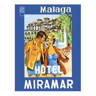 Malaga - Hotel Miramar Postcard