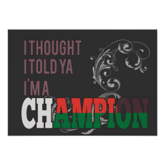 Malagasy and a Champion Poster