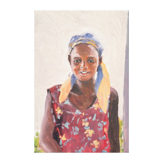 Malagasy Girl 1989 Canvas Print
