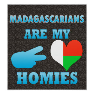 Malagasys are my Homies Poster