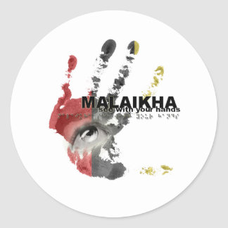 Malaikha - see with your hands classic round sticker