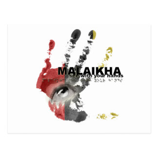 Malaikha - vea con sus manos postales
